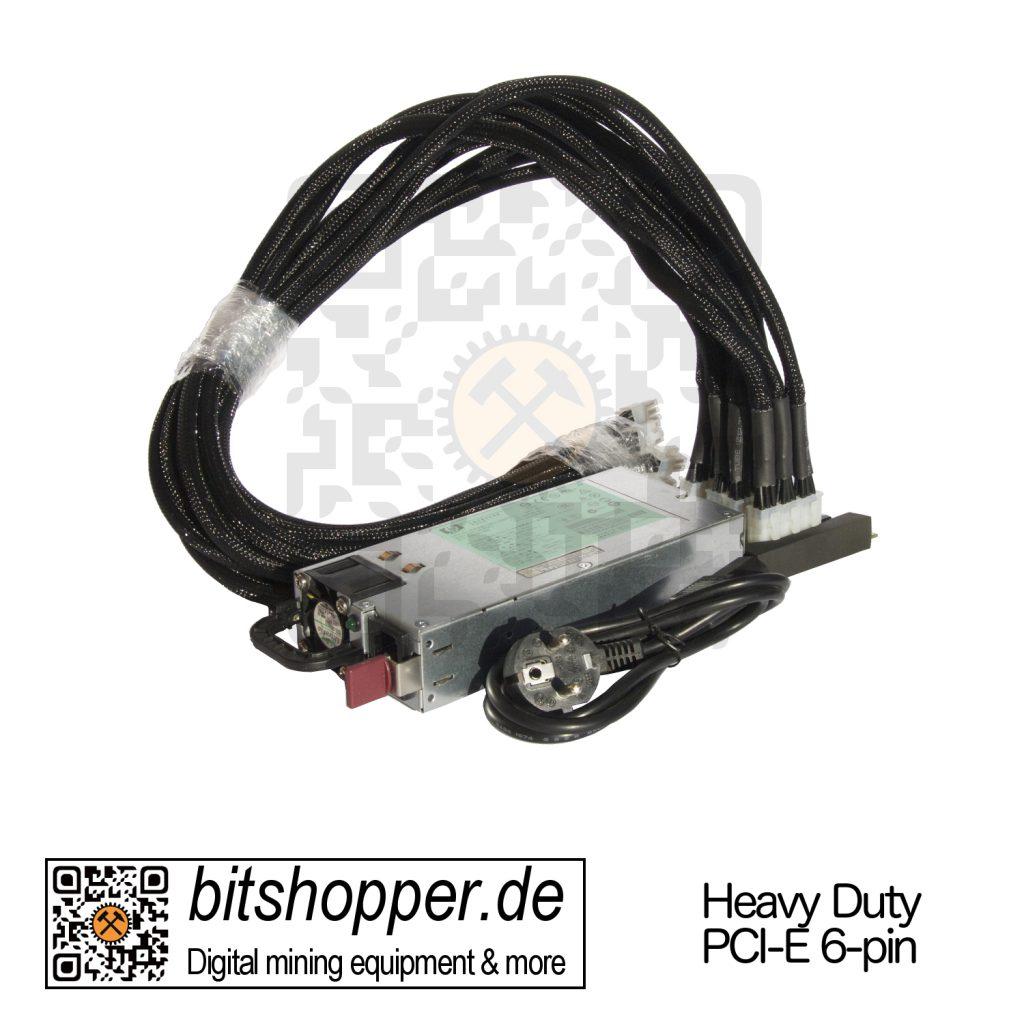 Bitcoin Miner Netzteil Bundle (HP DPS 1200 W mit Breakout Board und PCIe-Kabel)