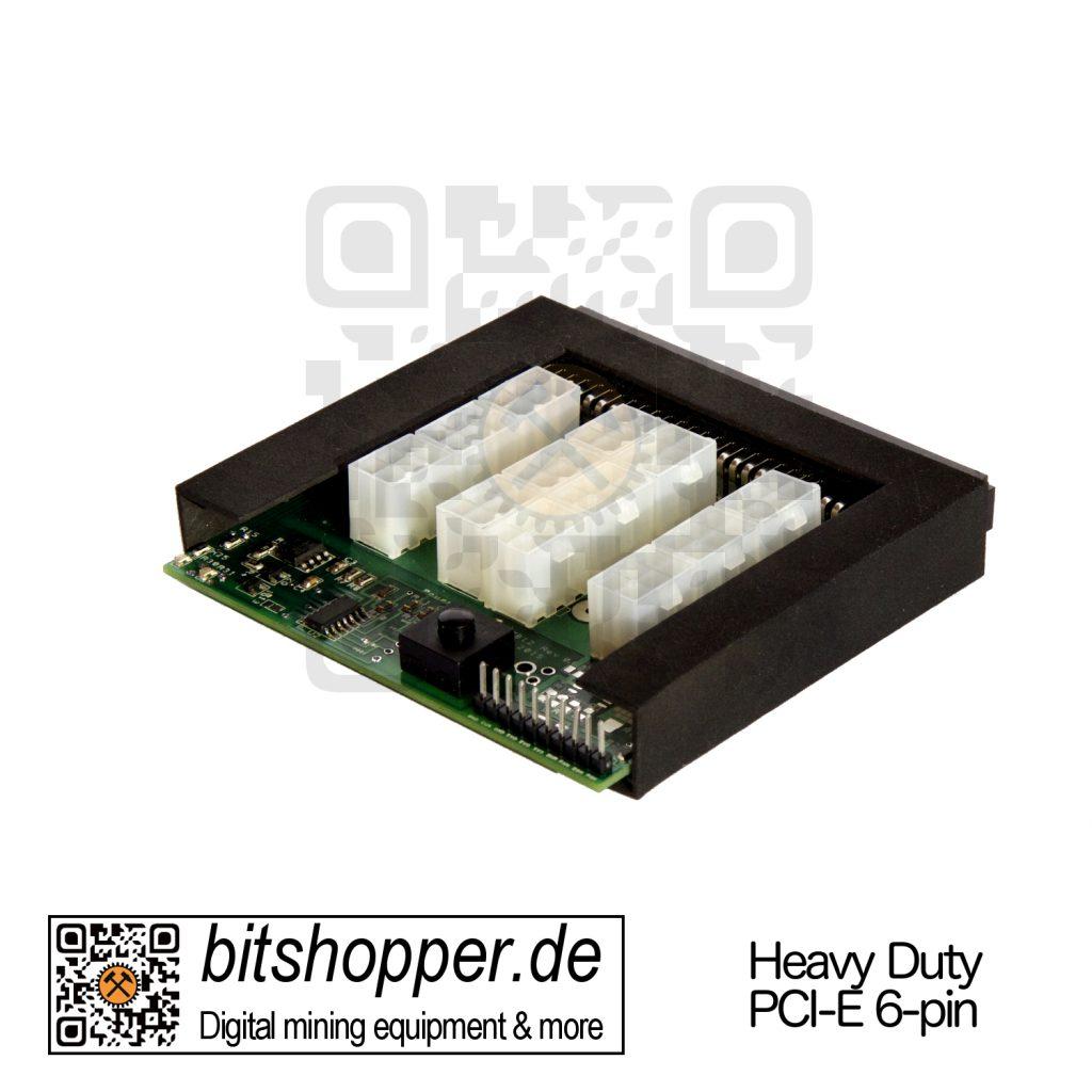 GekkoScience 12-fach PCI-E 6pin Breakout Board für HP DPS-800 und HP DPS-1200 Netzteile