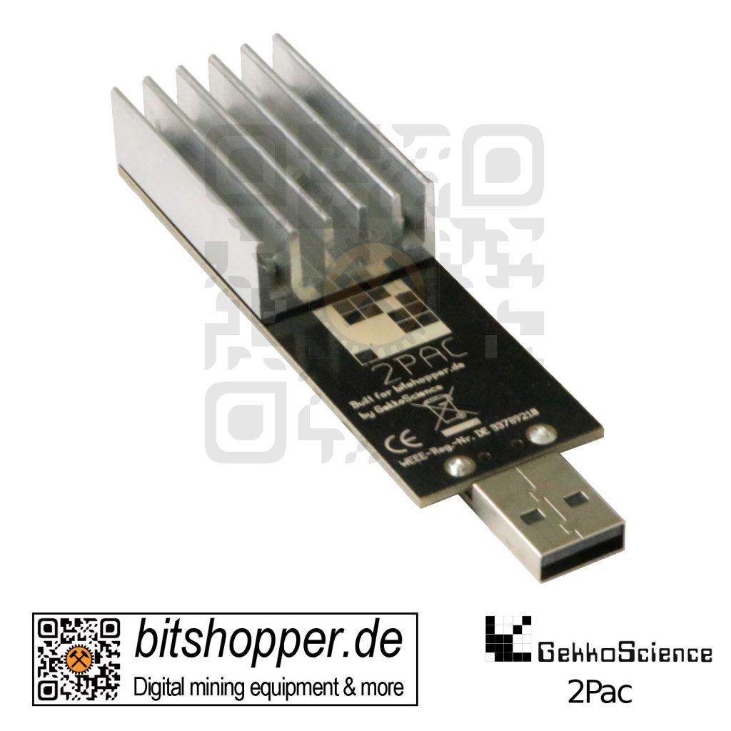 Bitcoin USB-Stick Miner bitshopper GekkoScience 2Pac 5,5 bis 25 GH/s (33 GH/s max.)