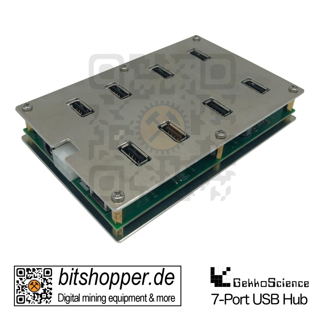 7-Port USB Hub mit 6-Pin PCIe Anschluss