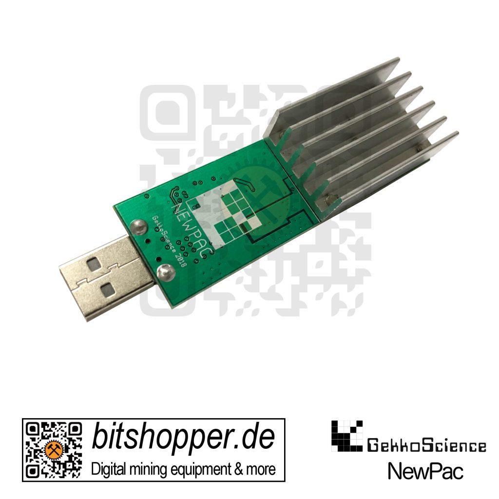 Bitcoin USB-Stick Miner bitshopper GekkoScience NewPac 22 bis 45 GH/s