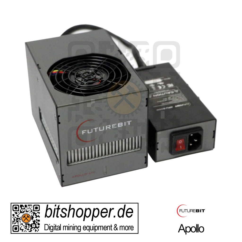 Scrypt Pod Miner bitshopper Futurebit Apollo (100-140 MH/s) - Batch 2 (mit Netzteil)